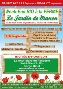 affiche salon bio Manon 2014
